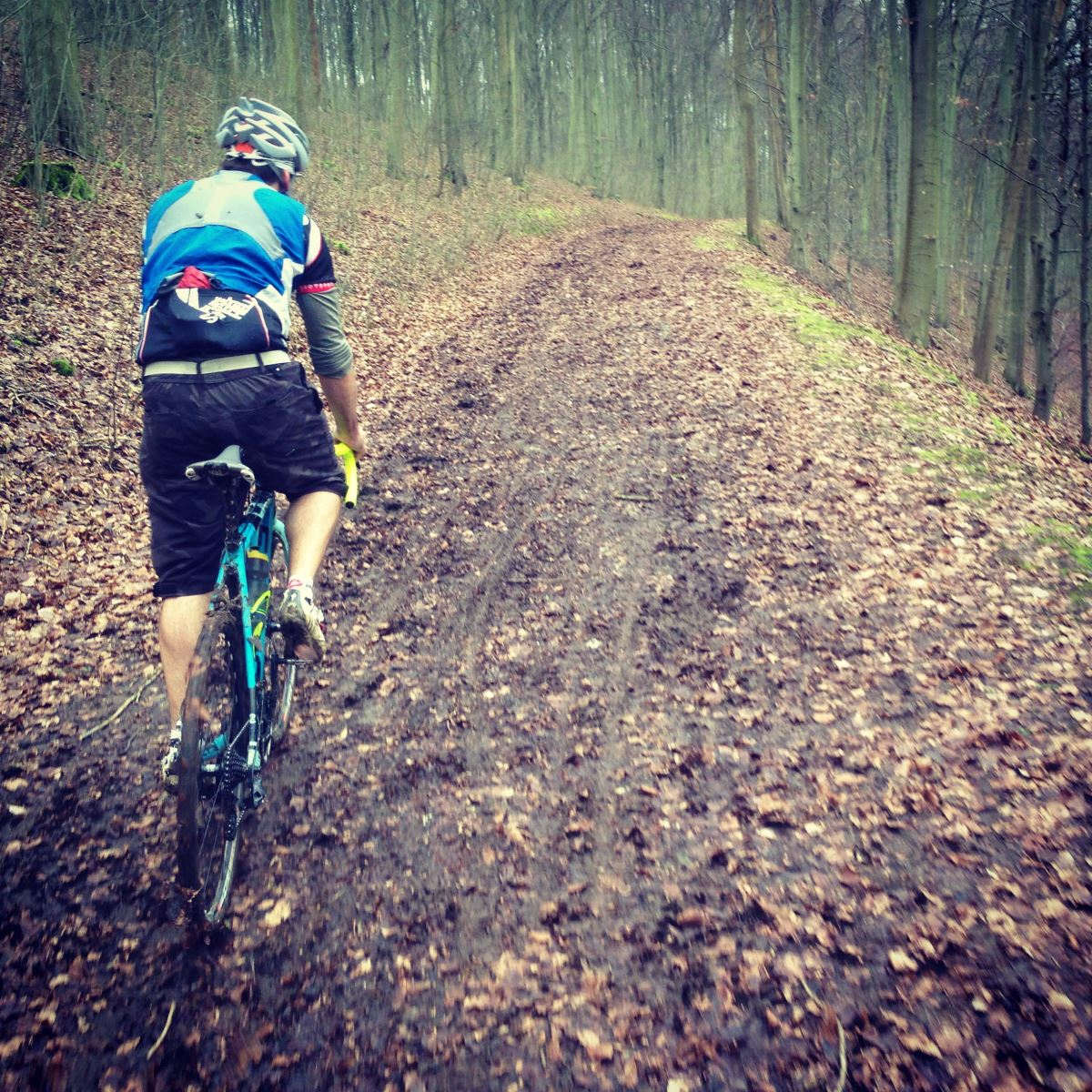 Kris Riding Friston Forest Cyclocross