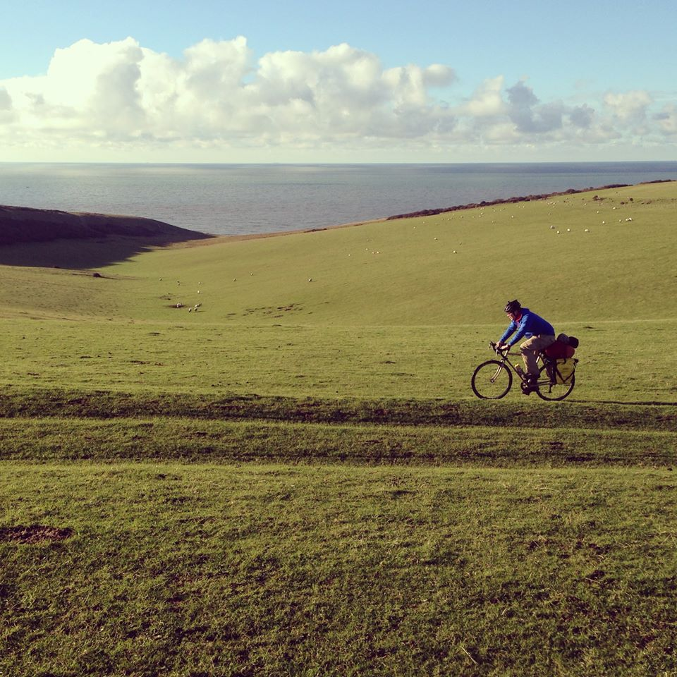 Sam riding at Beachy Head