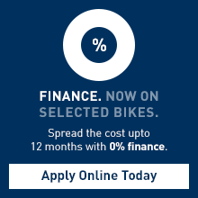 Finance now on selected bikes